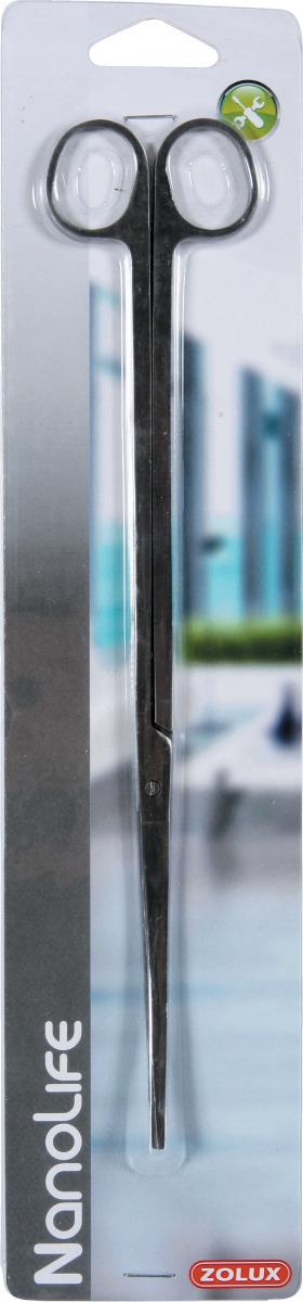 ZOLUX Nanolife Ciseaux Inoxydables 25 cm pour entretien des plantes d\'aquarium