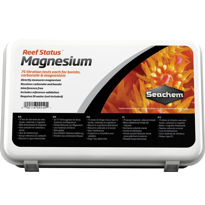 SEACHEM Reef Status Magnesium test ultra précis avec titrage du Magnesium par EDTA pour eau de mer