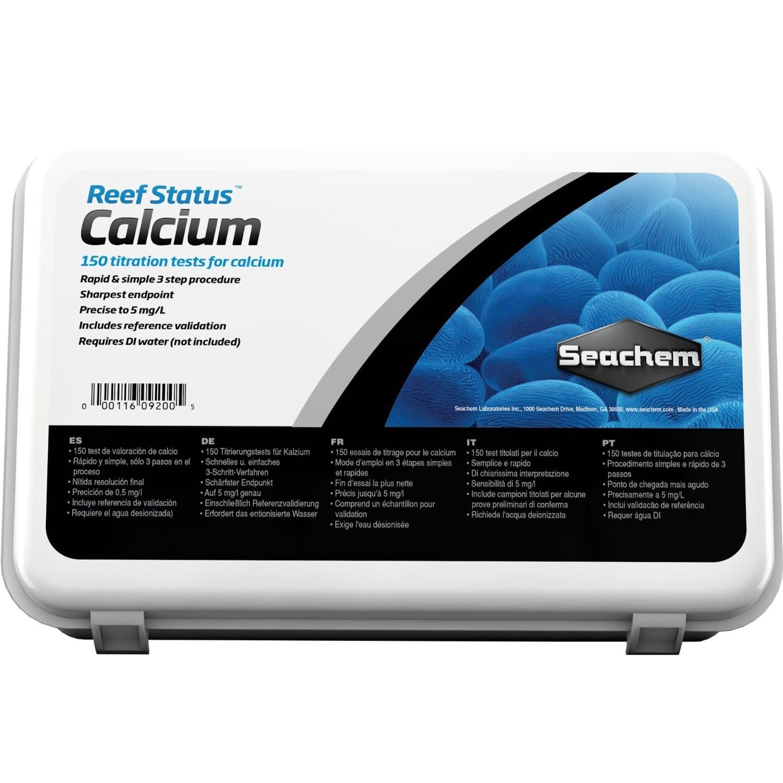 SEACHEM Reef Status Calcium test ultra précis avec titrage du Calcium par EDTA pour eau de mer
