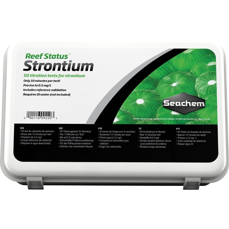 SEACHEM Reef Status Strontium test ultra précis avec titrage du Strontium pour eau de mer