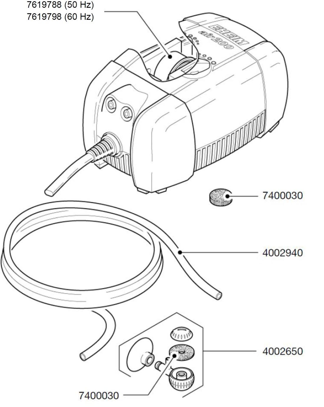 EHEIM Pièces détachées pour pompe à air 3701, 3702, 3704