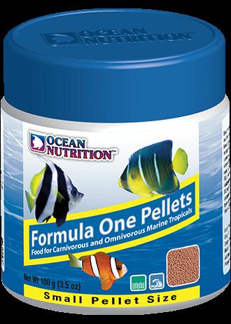 OCEAN NUTRITION Formula One Granulés Small 100 gr. nourriture à base de Krill, fruits de mer, plancton, spiruline pour poissons marins de moins de 10 cm