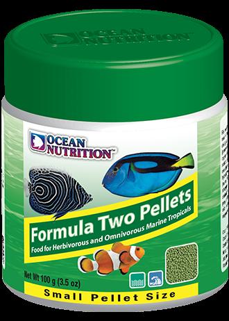 OCEAN NUTRITION Formula Two Granulés Small 100 gr. nourriture à base de spiruline, varech, crevette, plancton et calmar pour poissons marins de moins de 10 cm