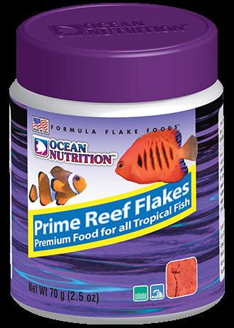 OCEAN NUTRITION Prime Reef Flocons 70 gr. nourriture à base de saumon, plancton, calmar, hareng, artémia pour poissons marins difficile à nourrir