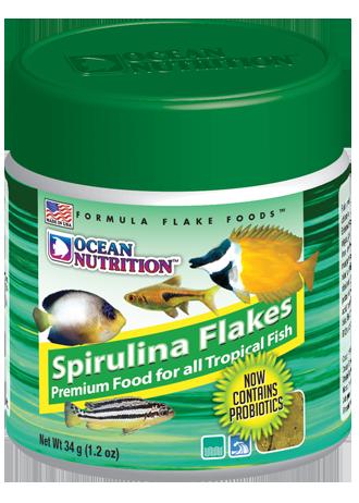 OCEAN NUTRITION Spirulina Flocons 34 gr. nourriture riche en spiruline pour poissons d\'eau de mer et d\'eau douce