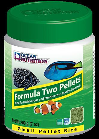 OCEAN NUTRITION Formula Two Granulés Small 200 gr. nourriture à base de spiruline, varech, crevette, plancton et calmar pour poissons marins de moins de 10 cm