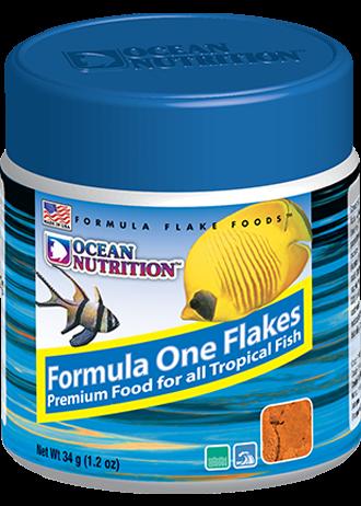 OCEAN NUTRITION Formula One Flocons 34 gr. nourriture à base de protéines de poisson, fruits de mer, plancton, artémias pour tous poissons d\'eau de mer