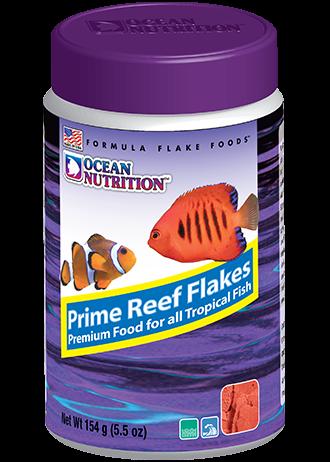 OCEAN NUTRITION Prime Reef Flocons 154 gr. nourriture à base de saumon, plancton, calmar, hareng, artémia pour poissons marins difficile à nourrir