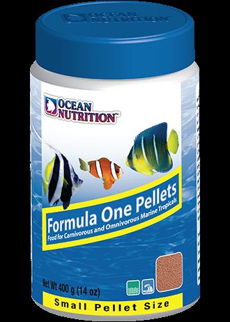 OCEAN NUTRITION Formula One Granulés Small 400 gr. nourriture à base de Krill, fruits de mer, plancton, spiruline pour poissons marins de moins de 10 cm