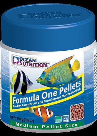 OCEAN NUTRITION Formula One Granulés Medium 100 gr. nourriture à base de Krill, fruits de mer, plancton, spiruline pour poissons marins de plus de 10 cm