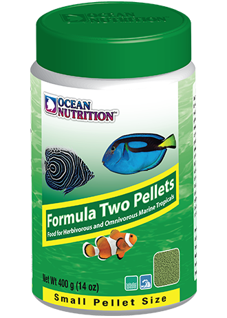 OCEAN NUTRITION Formula Two Granulés Small 400 gr. nourriture à base de spiruline, varech, crevette, plancton et calmar pour poissons marins de moins de 10 cm
