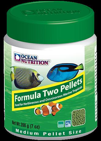 OCEAN NUTRITION Formula Two Granulés Medium 100 gr. nourriture à base de spiruline, varech, crevette, plancton et calmar pour poissons marins de plus de 10 cm