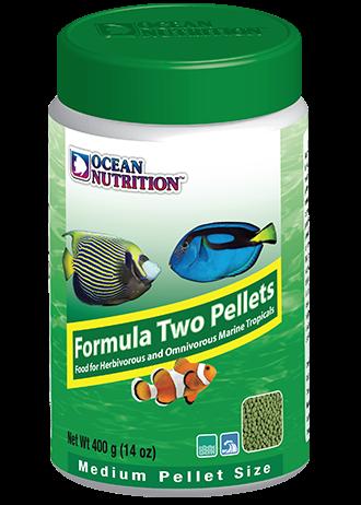 OCEAN NUTRITION Formula Two Granulés Medium 400 gr. nourriture à base de spiruline, varech, crevette, plancton et calmar pour poissons marins de plus de 10 cm