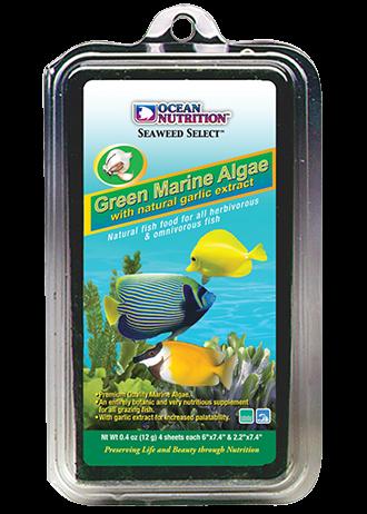 OCEAN NUTRITION Algues Marines Vertes 12 gr. nourriture complémentaire à base d\'algues vertes pour poissons herbivores d\'eau de mer et d\'eau douce