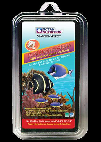 OCEAN NUTRITION Algues Marines Rouges 8 gr. nourriture complémentaire à base d\'algues rouges pour poissons herbivores d\'eau de mer et d\'eau douce