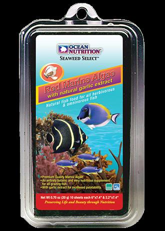 OCEAN NUTRITION Algues Marines Rouges 20 gr. nourriture complémentaire à base d\'algues rouges pour poissons herbivores d\'eau de mer et d\'eau douce