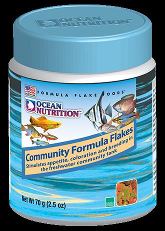 OCEAN NUTRITION Community Formula Flocons 70 gr. nourriture pour tous types de poissons d\'eau douce