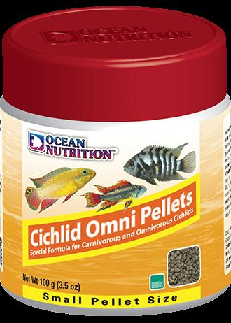 OCEAN NUTRITION Cichlid Omni Granulés Small 100 gr. nourriture pour les Cichlidés piscivores et omnivores d\'Afrique et d\'Amérique du Sud.