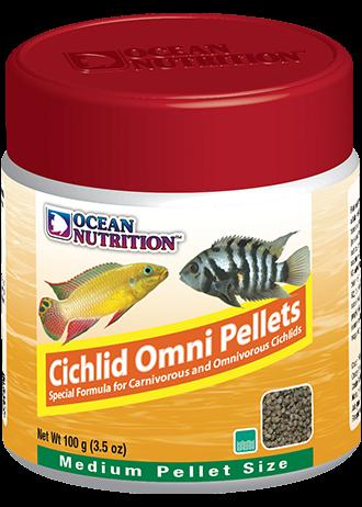 OCEAN NUTRITION Cichlid Omni Granulés Medium 100 gr. nourriture pour les Cichlidés piscivores et omnivores d\'Afrique et d\'Amérique du Sud.