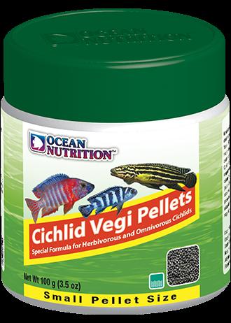 OCEAN NUTRITION Cichlid Vegi Granulés Small 100 gr. nourriture pour Cichlidés africains et Cichlidés d\'Amérique du Sud végétariens
