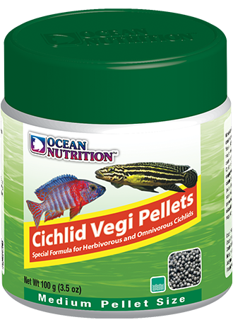 OCEAN NUTRITION Cichlid Vegi Granulés Medium 100 gr. nourriture pour Cichlidés africains et Cichlidés d\'Amérique du Sud végétariens