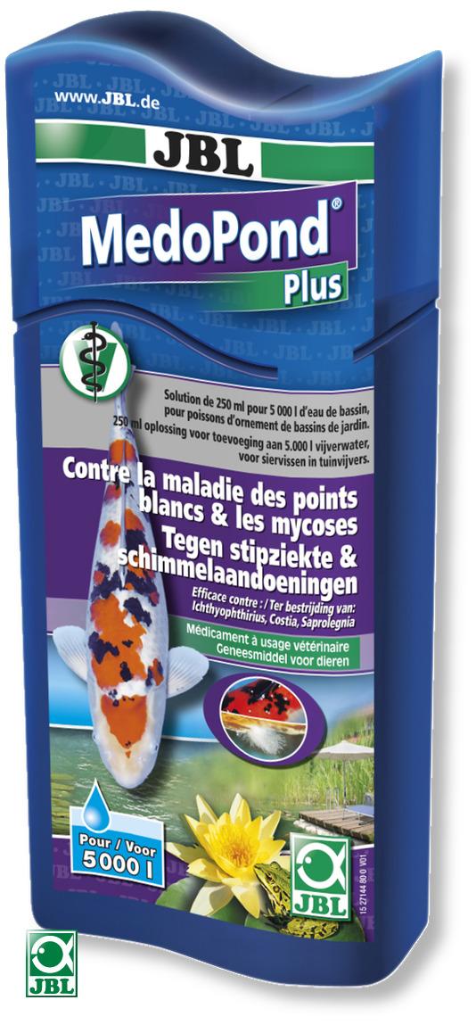 JBL MedoPond Plus 250 ml traitement multi-maladies à usage vétérinaire contre les points blancs, parasites et les mycoses