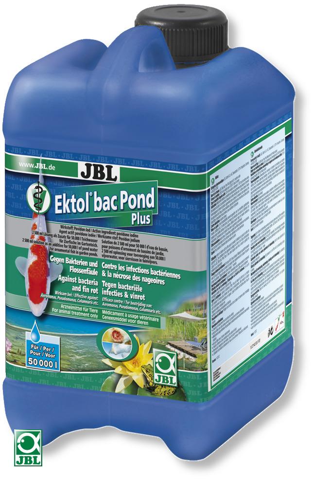 JBL Ektol bac Pond Plus 2,5 L traitement à usage vétérinaire contre les maladies bactériennes chez les poissons de bassin
