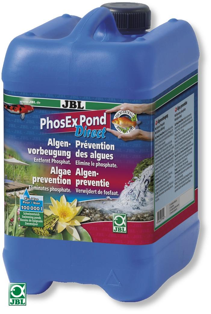 JBL PhosEx Pond Direct 5 L élimine les phosphates afin de supprimer les algues dans les bassins jusqu\'à 100000 L