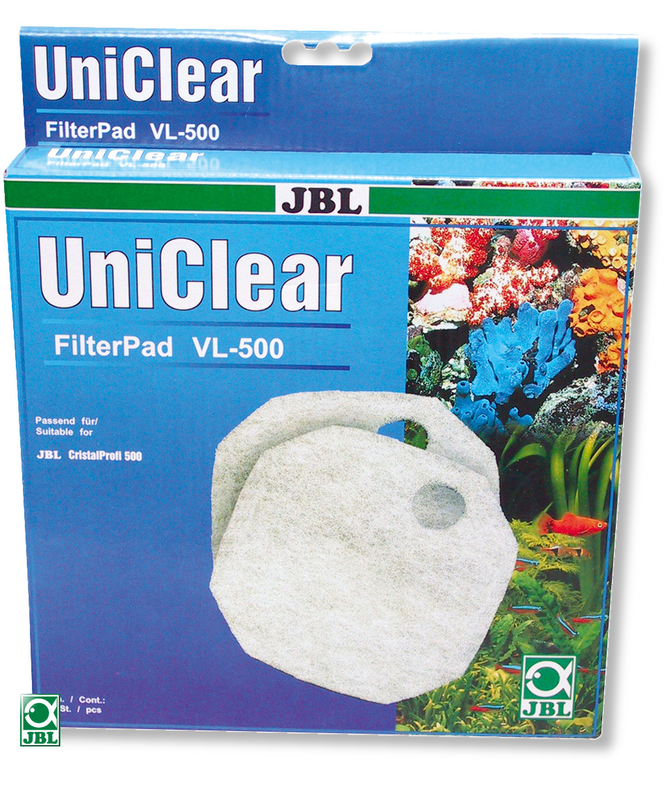 JBL FilterPad VL CP 500 lot de 2 coussins de ouate pour filtre JBL CristalProfi 500