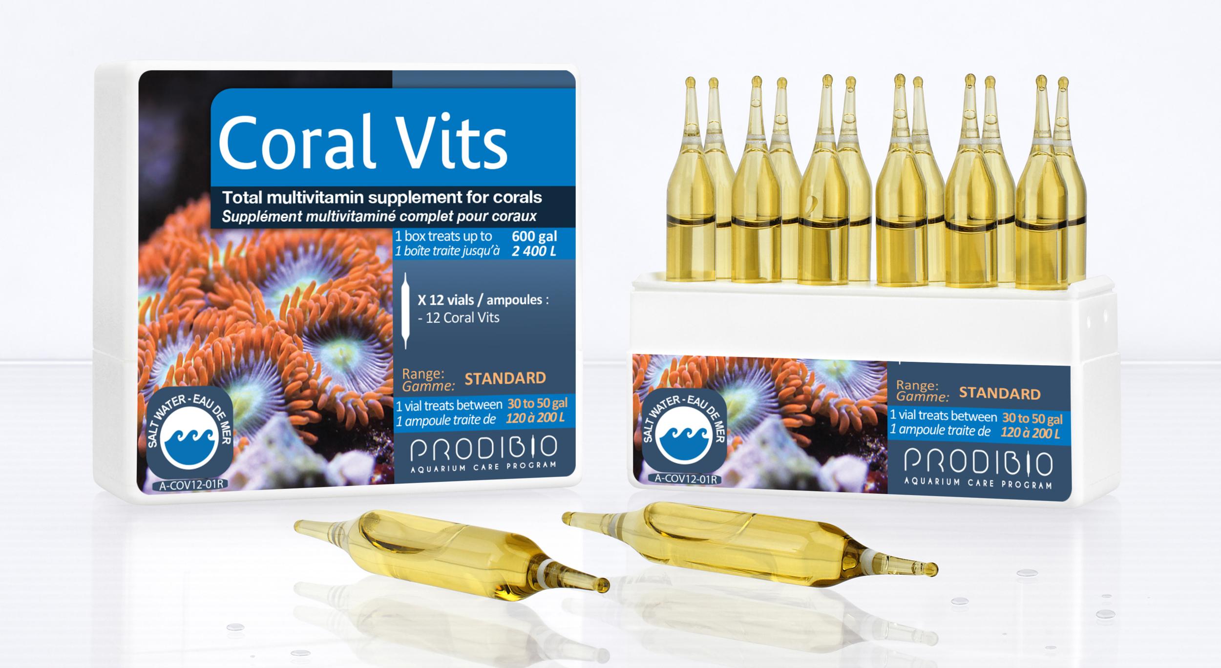 PRODIBIO Coral Vits 30 ampoules concentré de vitamines pour la croissance des coraux