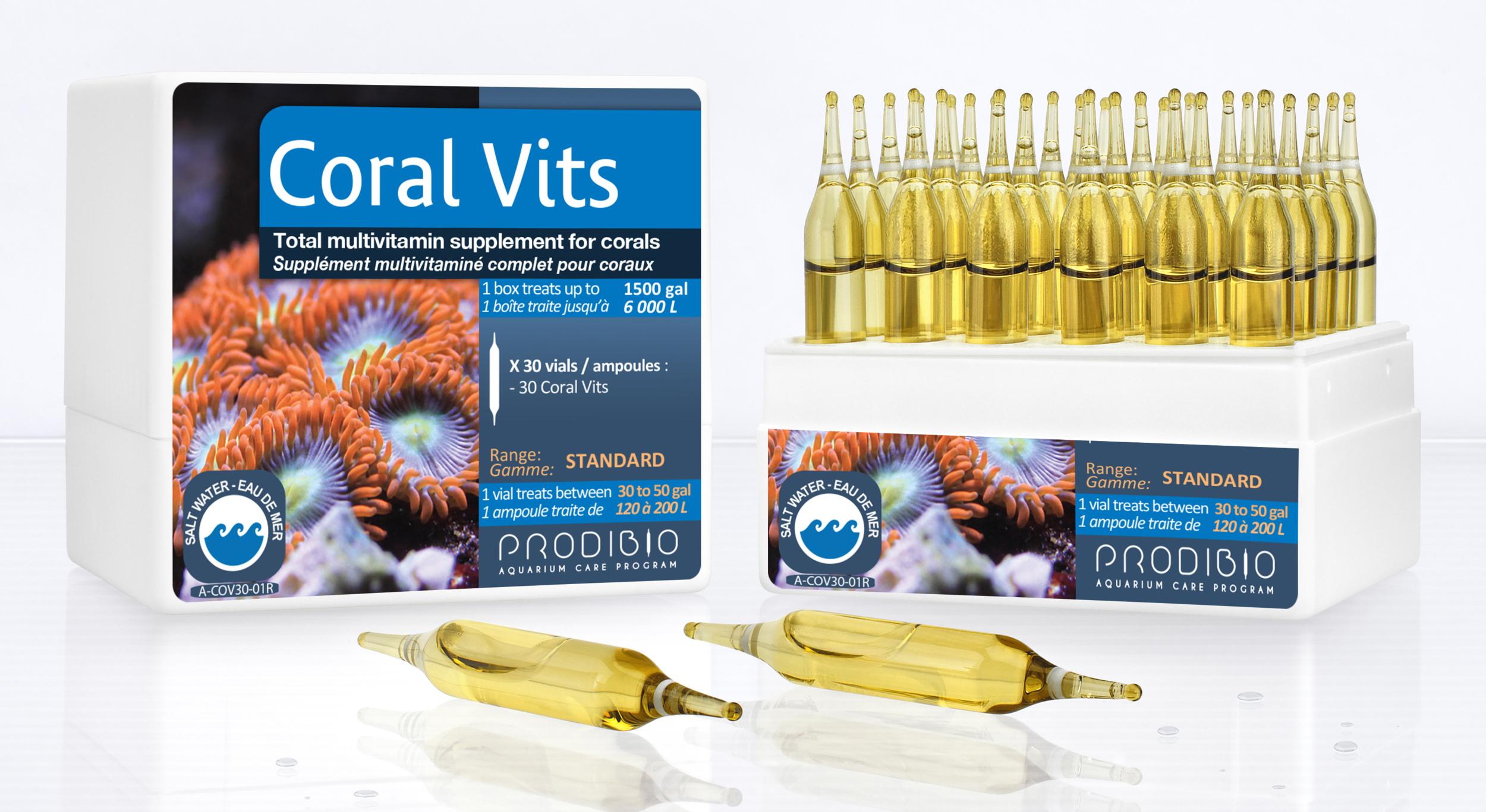 PRODIBIO Coral Vits 12 ampoules concentré de vitamines pour la croissance des coraux