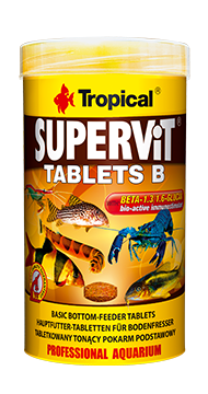 TROPICAL SuperVit Tablets B 50ml tablettes pour poissons de fond, riches en protéines avec beta-glucan