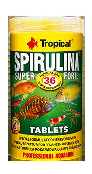 TROPICAL Super Spirulina Forte 36% Tablets 50 ml nourriture en tablettes très riches en Spirulina pour poissons herbivores