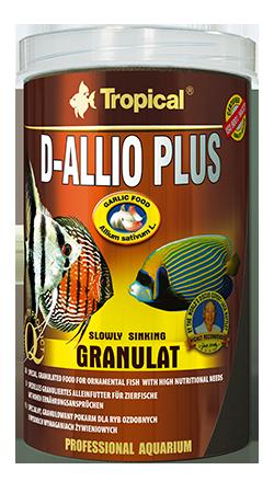 TROPICAL D-Allio Plus Granulat 1L nourriture en granulées avec ail pour poissons exigeants d\'eau douce et d\'eau de mer