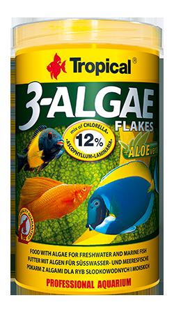 TROPICAL 3-Algae Flakes 250 ml nourriture en flocons riches en algues pour poissons herbivores et omnivores