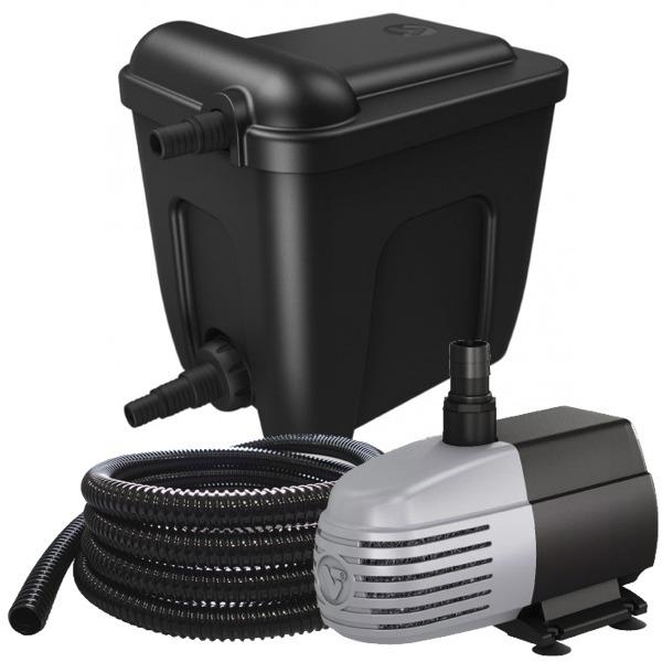 VT Eco Filter Set 12000 kit de filtration multi-chambres avec stérilisateur UV-C 18W et pompe 2500 L/h pour bassin jusqu\'à 12000 L
