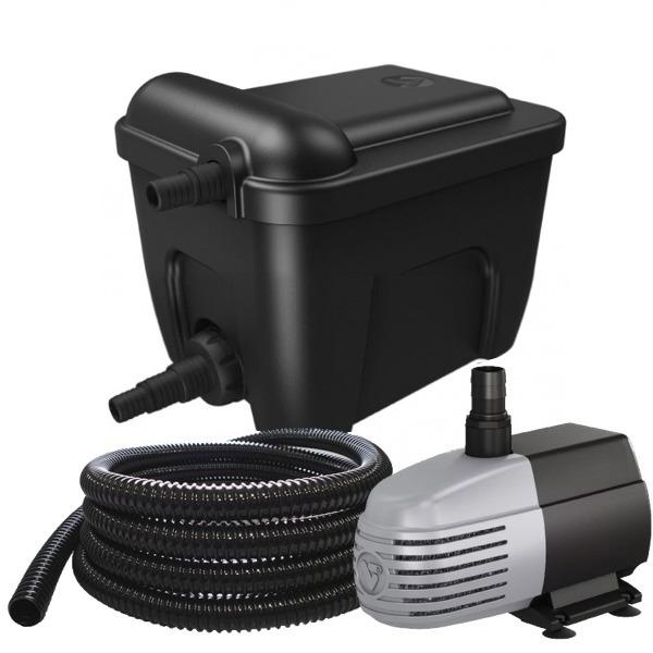 VT Eco Filter Set 6000 kit de filtration multi-chambres avec stérilisateur UV-C 9W et pompe 1500 L/h pour bassin jusqu\'à 6000 L