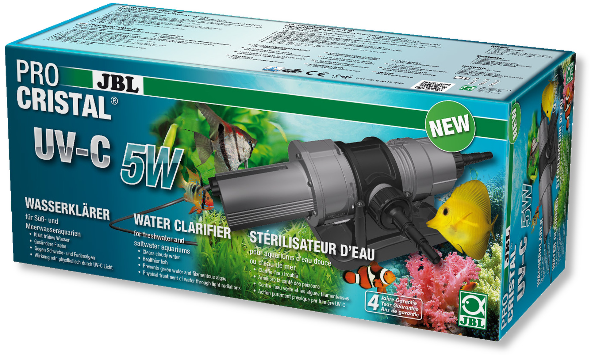 Jbl procristal uv c 5 w st rilisateur uv pour aquarium de for Jbl aquarium