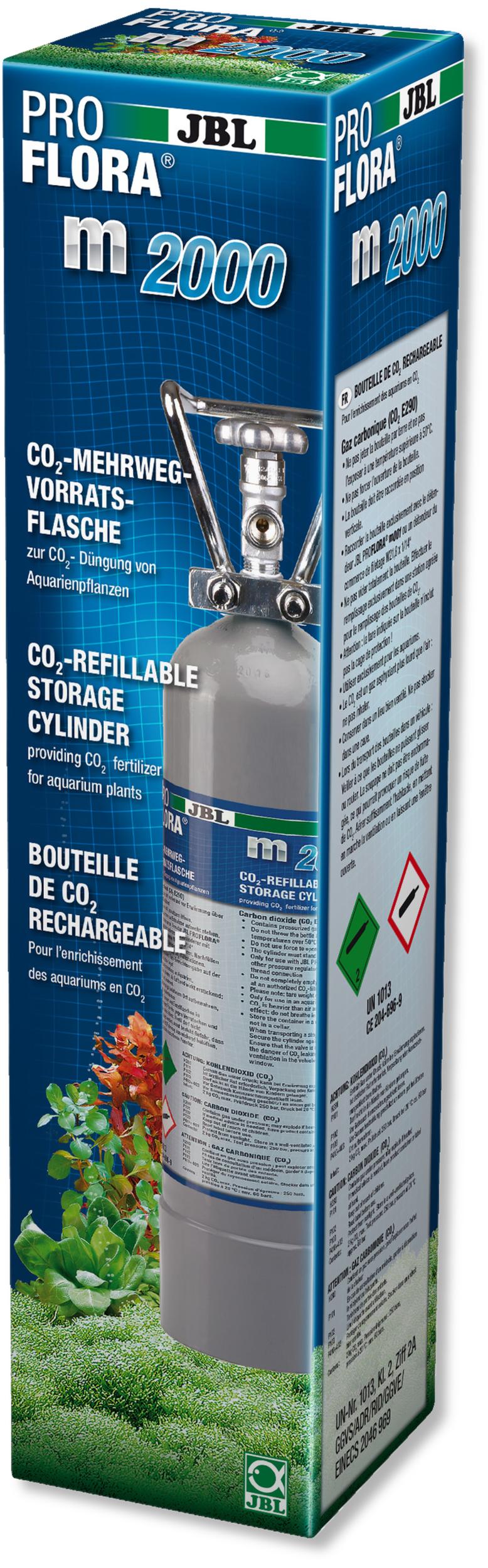 JBL Proflora m2000 Silver bouteille de CO2 de 2 kg rechargeable