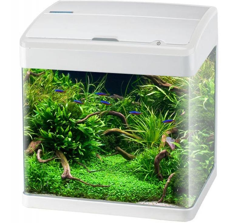 aquavie nanovie f1 47l nano aquarium quip 45 5 x 29 5 x 45 5 cm avec clairage leds. Black Bedroom Furniture Sets. Home Design Ideas