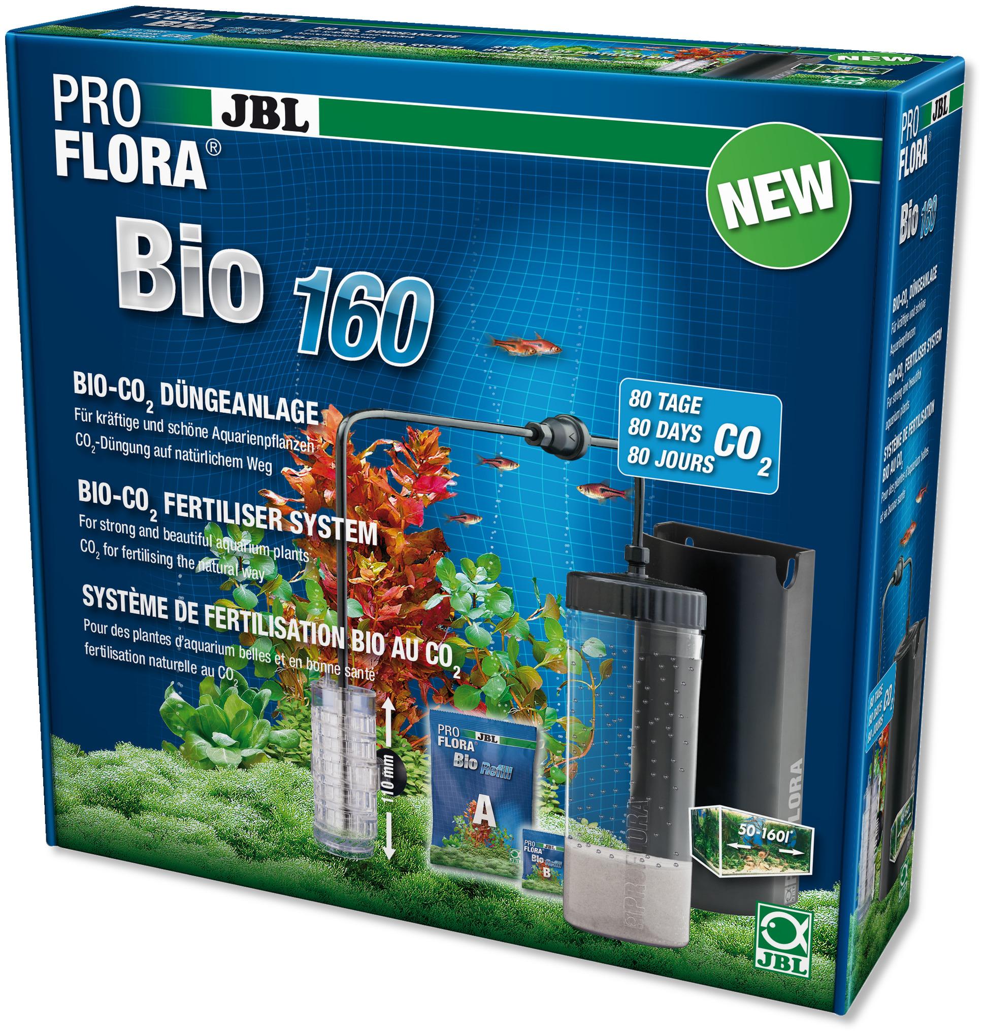 JBL Proflora Bio 160 kit fertilisation au bio-CO2 avec diffuseur extensible pour aquarium de 50 à 160L