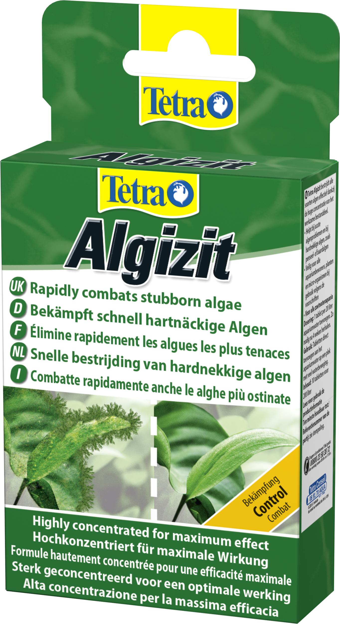 TETRA Algizit 10 comprimés détruit rapidement les algues en aquarium d\'eau douce