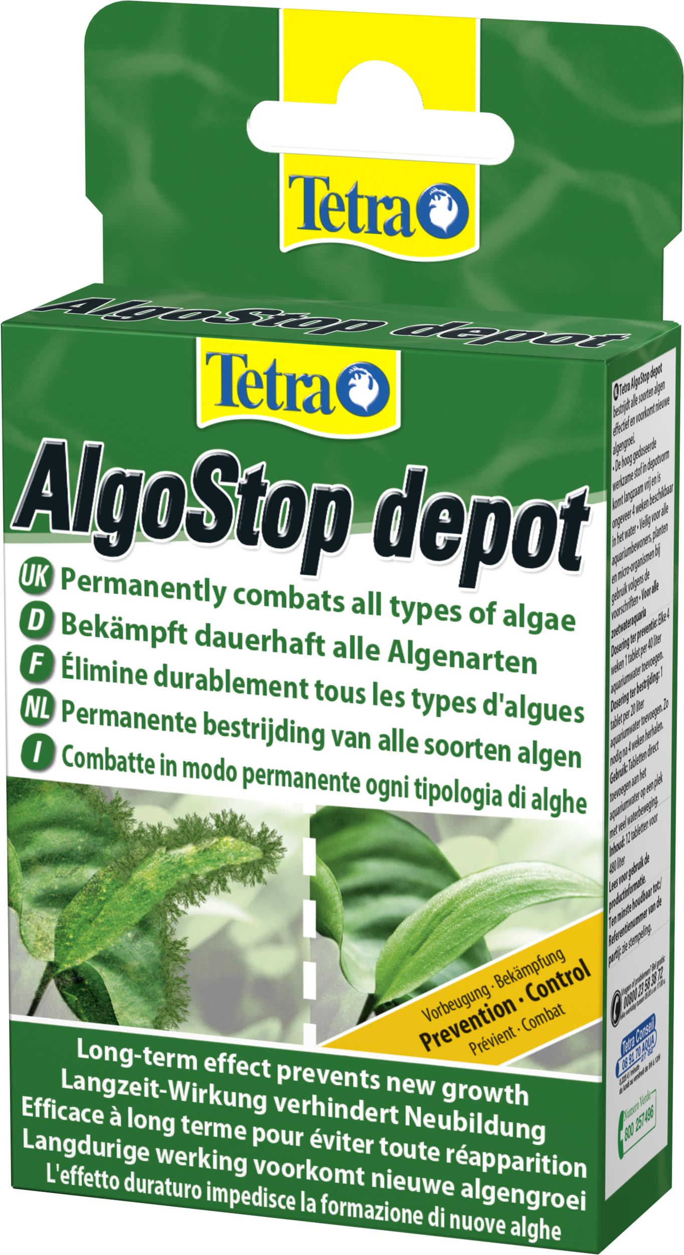 TETRA AlgoStop Depot 12 comprimés traitement de fond, en comprimés contre les algues en aquariums d\'eau douce