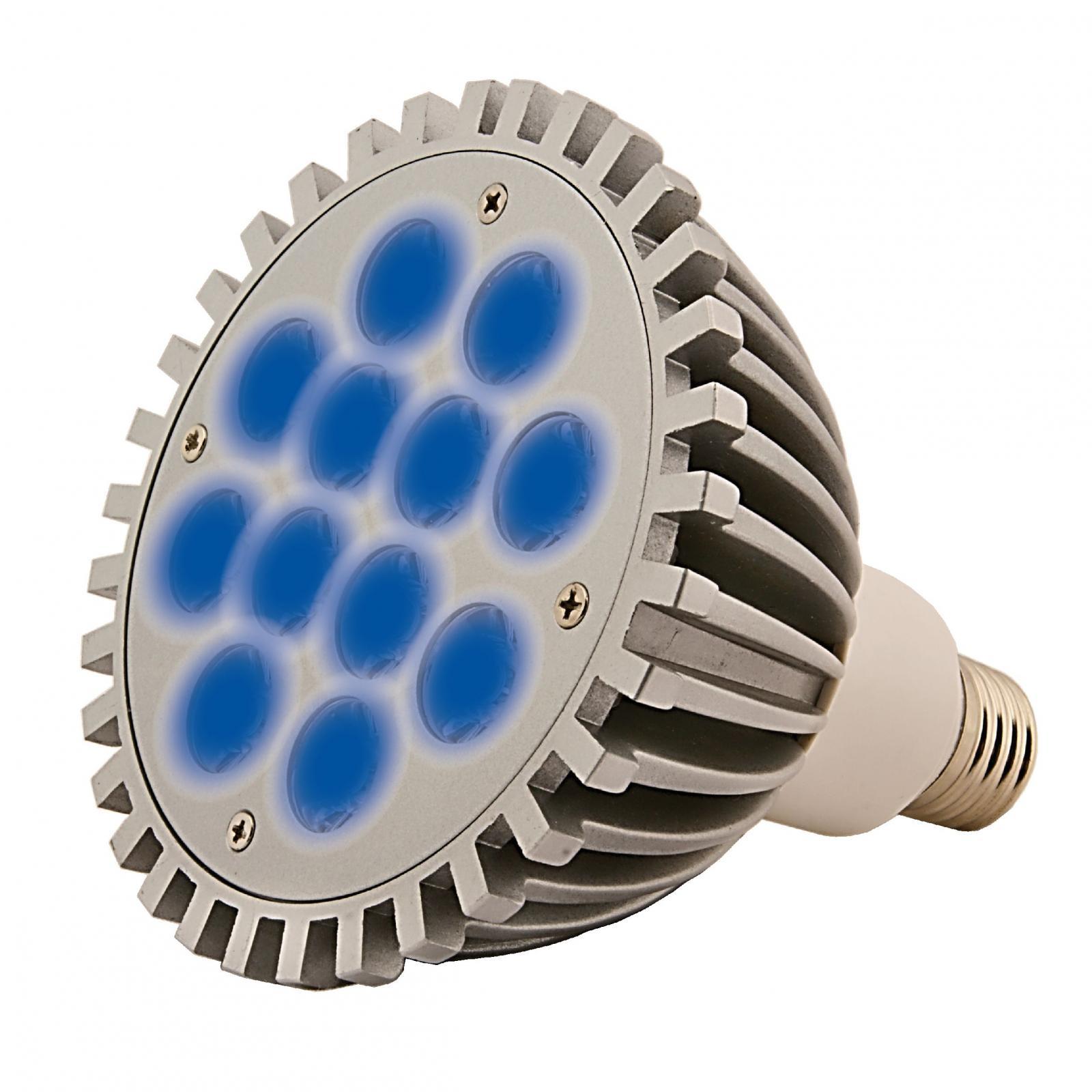 AQUA MEDIC AquasunSpot 12 x 1W spot LED 230V 25000°k culot E27 pour l\'éclairage d\'aquarium d\'eau de mer