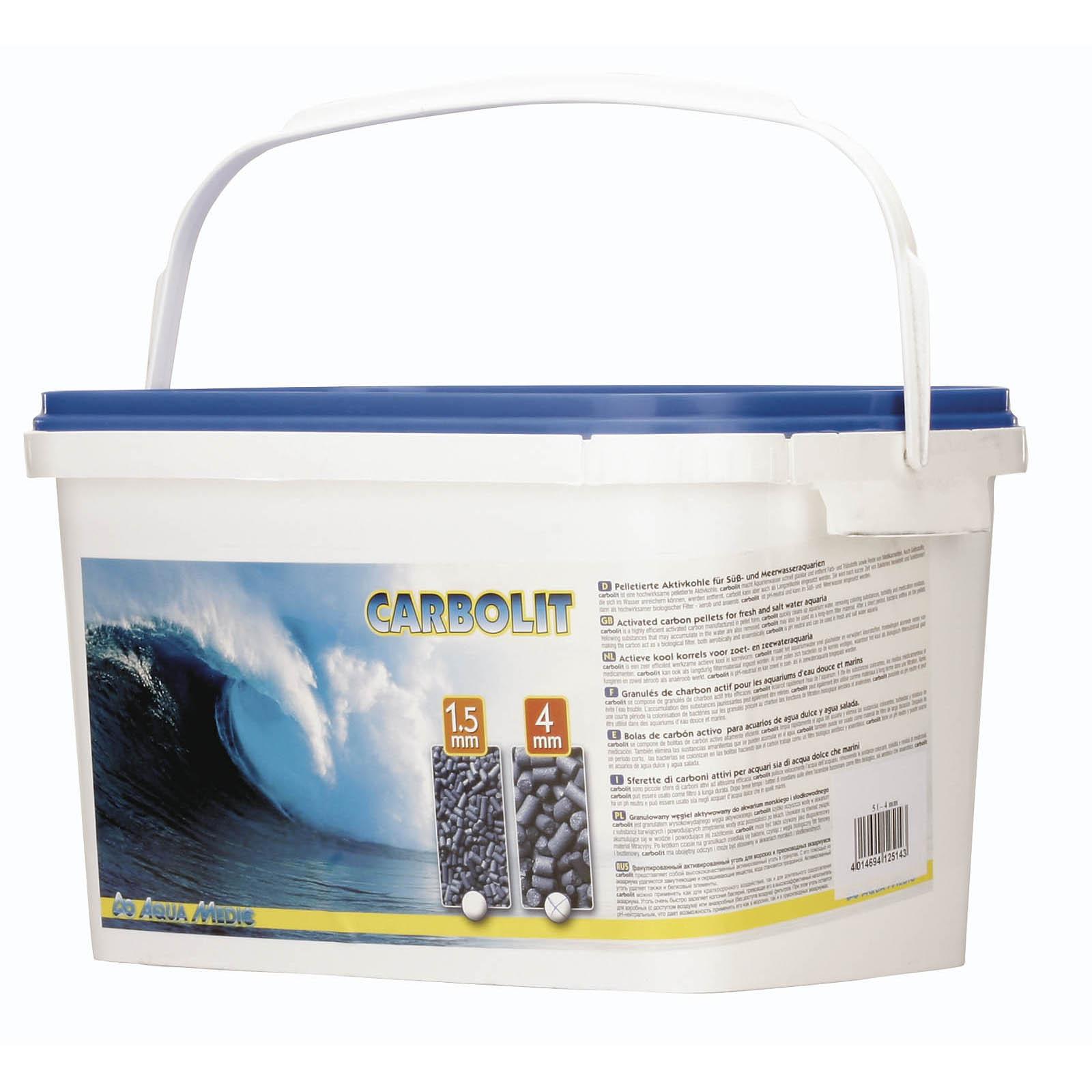 AQUA MEDIC Carbolit 25 Kg granulés de charbon actif diamètre 1,5 mm pour les aquariums d\'eau douce et d\'eau de mer