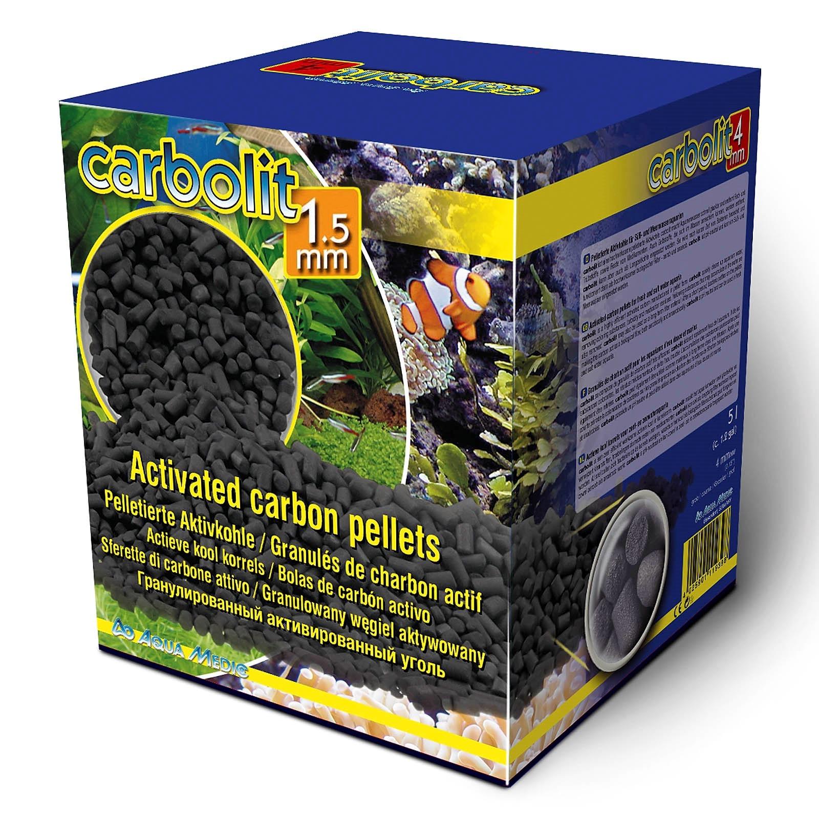 AQUA MEDIC Carbolit 3,5 Kg granulés de charbon actif diamètre 1,5 mm pour les aquariums d\'eau douce et d\'eau de mer