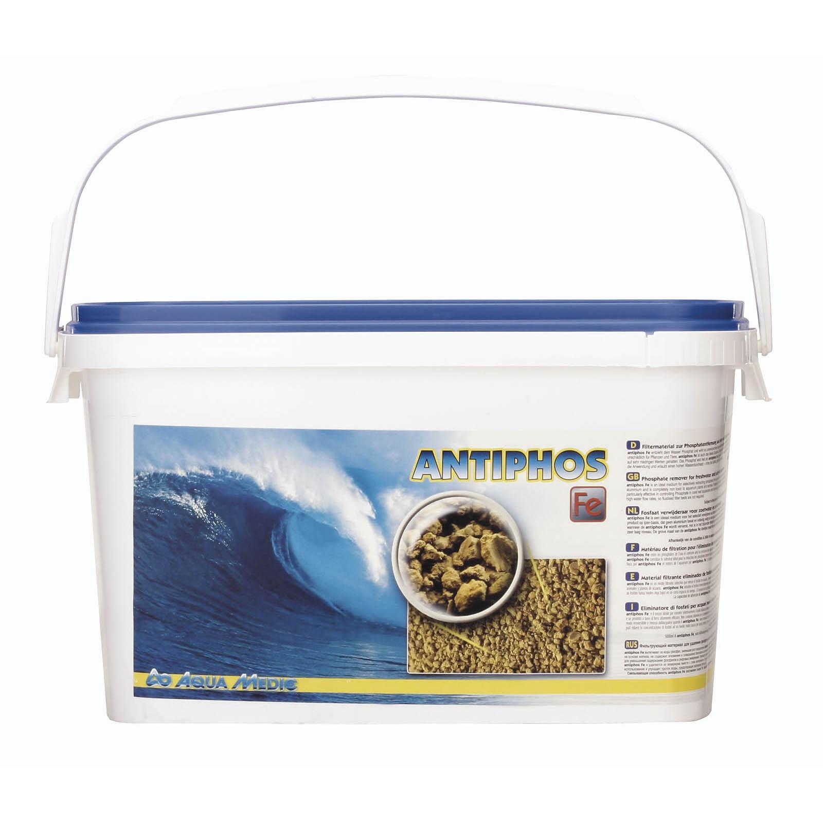 AQUA MEDIC Antiphos Fe 5 L élimine les phosphates en eau douce et en eau de mer