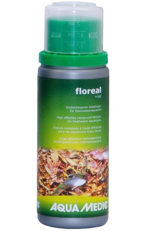 AQUA MEDIC floreal + iod 100 ml engrais liquide à base de minéraux et de iode pour aquariums d\'eau douce