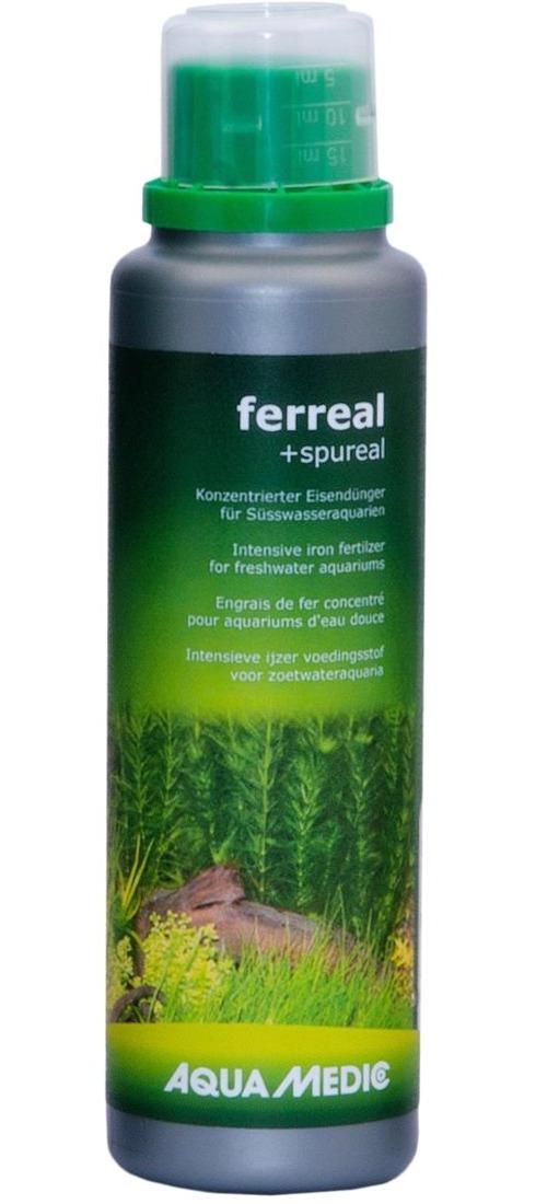 AQUA MEDIC ferreal + spureal 250 ml engrais liquide à base de fer et oligo-éléments pour aquariums d\'eau douce