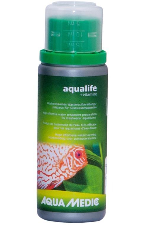 AQUA MEDIC aqualife + Vitamine 100 ml conditionneur d\'eau du robinet avec vitamines pour aquarium d\'eau douce
